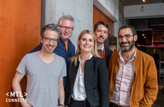 From left to right, 1st row: Mathieu Dugal, Andrée-Anne Jeasonne, Marc Jahjah. Second row: Jean-Hughes Roy and Jérôme Fihey